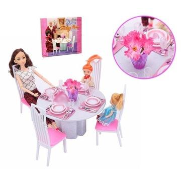 EduCORE Jadalnia dla lalki 29cm stół 4 krzesła