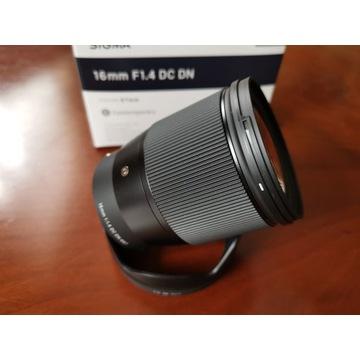 Obiektyw Sigma C 16 mm f/1.4 DC DN / Sony E IDEAŁ