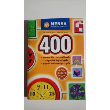 Mensa 400 testów IQ łamigłówek zagadek logicznych