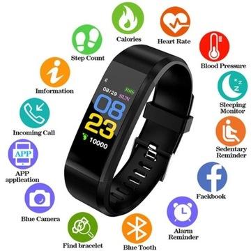 smartband puls, cisnienie ,kalorie, czas, data