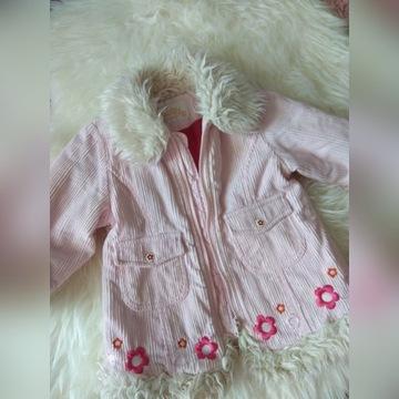 zimowy płaszczyk dla dziewczynki 80 baby by Lindex