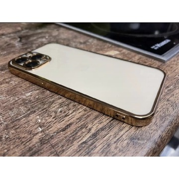IPHONE 12 PRO GOLD CRYSTAL CASE