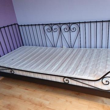 Łóżko jednoosobowe metal czarne IKEA MELDAL 90x200