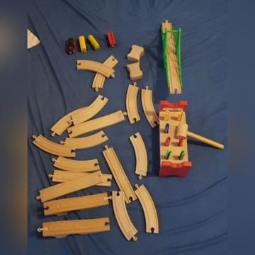Drewniane klocki Ikea. Pociag + Most + Zabawka