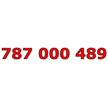 787 000 489 T-MOBILE ŁATWY ZŁOTY NUMER STARTER