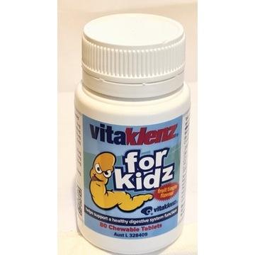 Vitaklenz for Kidz  przeciwko lambriom i owsikom.
