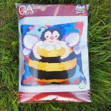Haft krzyżykowy zestaw Poduszka Pszczółka