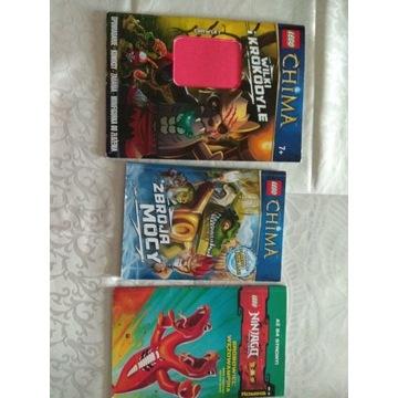 Lego Chima i Ninjago 3 książeczki