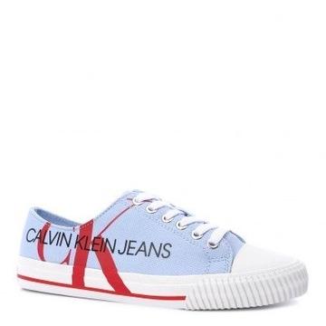 Calvin Klein Jeans Ivano niebieskie tenisówki 42