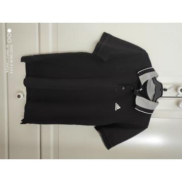 Adidas koszulka polo 152 11 12 lat czarna SUPER ST