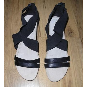 Czarne sandały SoNize (26,5 cm) gumki