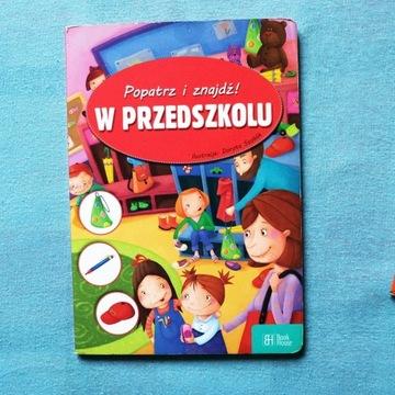 Książka dla dzieci Popatrz i znajdź w przedszkolu