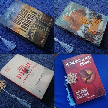 4 książki: Collins Szamałek Dashner - wsparcie FKN