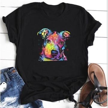 Koszulka t-shirt pies amstaff pitbull S-XXL