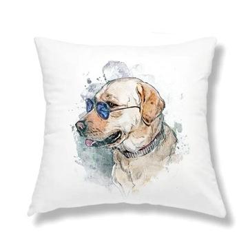 Poduszka jasiek z wypełnieniem pies labrador 40x40