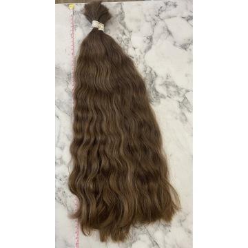 Włosy dziewicze polskie 48-50cm 143g FALA brąz