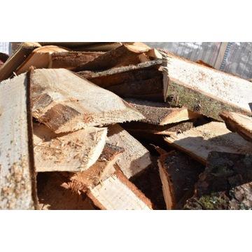 Drewno opałowe iglaste zrzyna okrajki opał