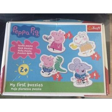 Zestaw Świnka Peppa puzzle książka magnetyczna