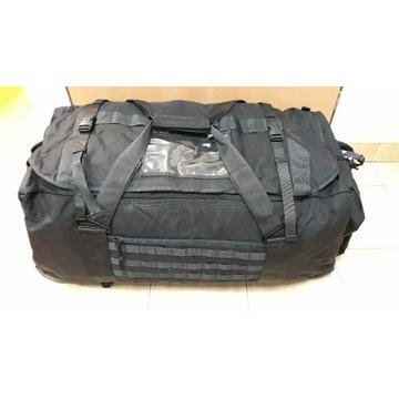 Wojskowa czarna torba transportowa 135 l