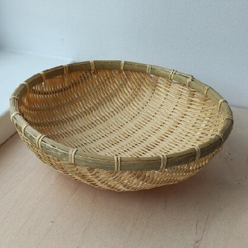 Koszyk bambusowy większy na owoce warzywa pieczywo