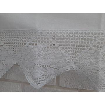 IZA Stylowa zasłona firana 150x60 biała bawełna