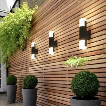 Lampa naścienna zewnętrzna LED klinkiet