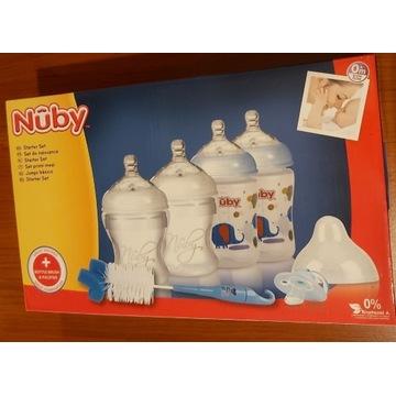 Zestaw butelek,buteleczek dla Dziecka NUBY dodatki