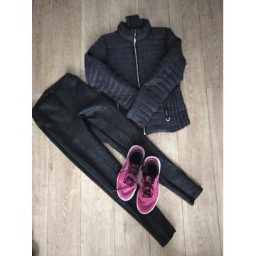 Paka ubrań zestaw spodnie kurtka skórzane botki S