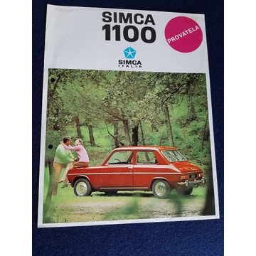 UNIKAT PROSPEKT  SIMCA 1100   1967rok