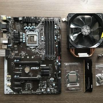 I5-6600k + MSI 170-A pro + 16 GB RAM + chłodzenie