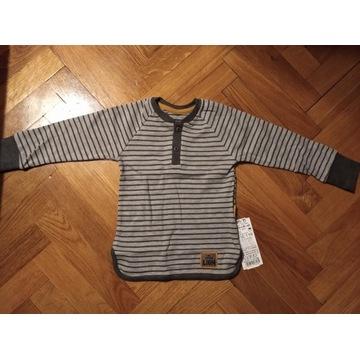 Bluzeczka bawełniana dla chłopca długi rękaw 110