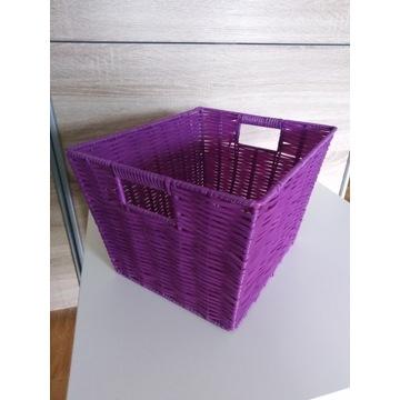 Fioletowy koszyk wiklinowy kosz pudełko pojemnik