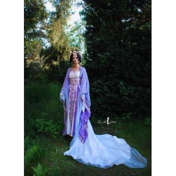 Suknia stylizowana, baśniowa chińska księżniczka