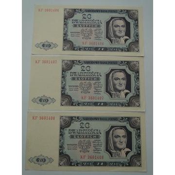 20 zł 1948 rok seria KF 3601406-8