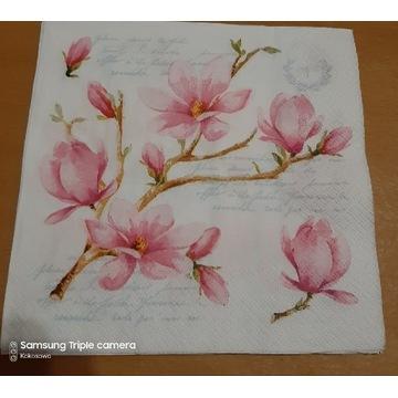 Serwetka decoupage magnolia