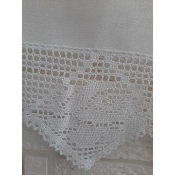 IZA Stylowa zazdrostka firana 50x200 biała bawełna
