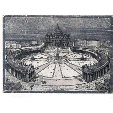 Pocztówka Watykan - Bazylika św. Piotra -kolumnada