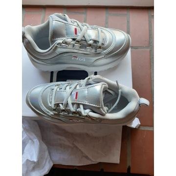 Sneakersy niskie - srebrny FILA