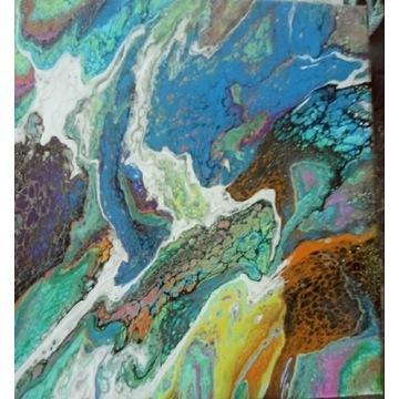 Obraz akryl 50x50 abstrakcja