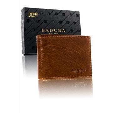 Męski portfel BADURA jasny brąz