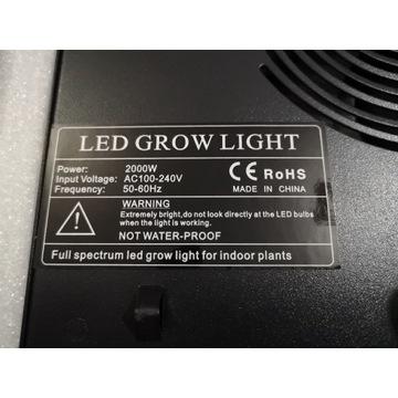 Lampa do wzrostu roślin 2000W LED grow lamp