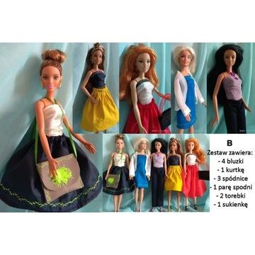 """Ubranka dla Barbie zestaw ubrań  """"B"""""""