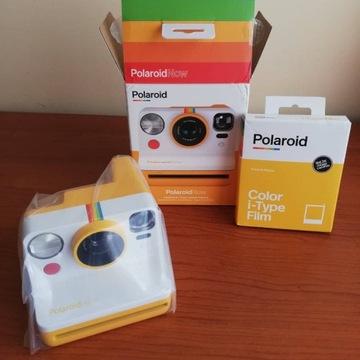 Aparat natychm. Polaroid Now Żółty + 8 wkładów!