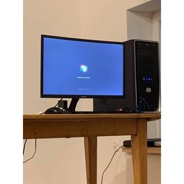Monitor Samsung 24 cale zakrzywiony ekran