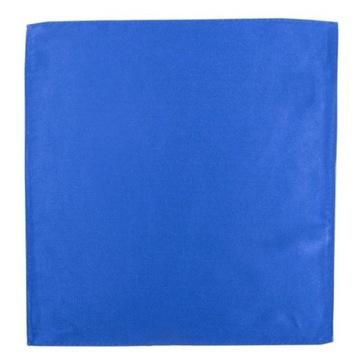 Niebieska jedwabna poszetka