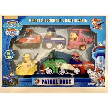 Psi patrol figurki w pojazdach 6 figurek