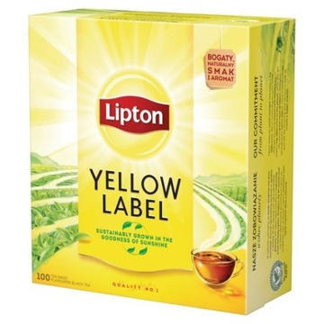 Lipton expresowa herbata czarna 100 yellow label