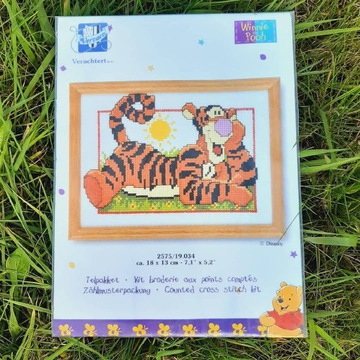 Haft krzyżykowy zestaw Vervaco Tygrysek