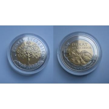 Moneta na Szczęście dukat okolicznościowy w kapslu