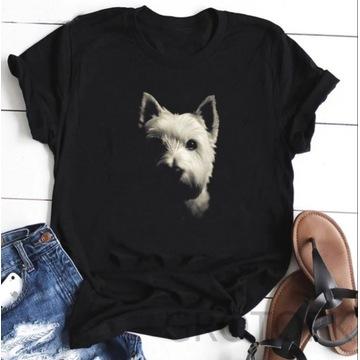 Koszulka t-shirt West terrier westie lato S-XXL